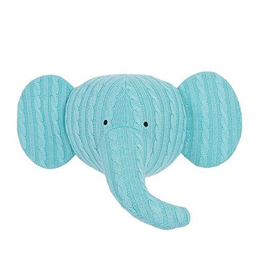 Jollein 042-001-65011 Wanddekoration Tierkopf Elefant Strick mint