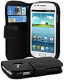 Cadorabo - Funda Samsung Galaxy S3 MINI (I8190) Book Style de Cuero Sintético Liso en Diseño Libro...