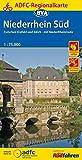 ADFC-Regionalkarte Niederrhein Süd 1:75.000, reiß- und wetterfest, GPS-Tracks Download: Zwischen Krefeld und Jülich - mit NiederRheinRoute (ADFC-Regionalkarte 1:75000)