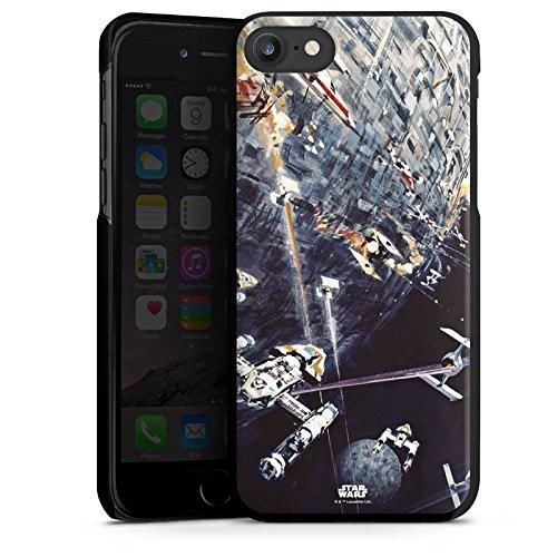 Apple iPhone 5s Hülle Case Handyhülle Star Wars Merchandise Fanartikel Todesstern Hard Case schwarz