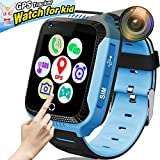 ONMet Kids GPS Tracker Smart Watch With Camera,Flashlight,Math Game,SOS Call,Voice Chatting,Remote Monitor Anti