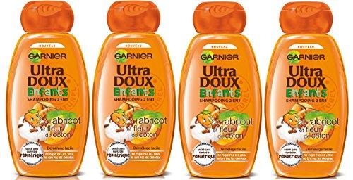 Garnier – Ultra weich Kinder Apricot und Baumwollblüte – Shampoo 400 ml – 4 Stück