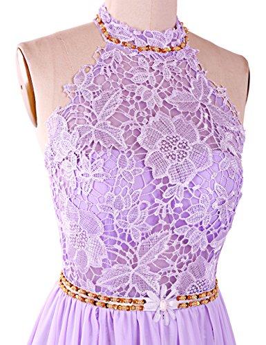 Dresstells, Robe de soirée Robe de cérémonie Robe de gala mousseline dentelle forme princesse dos nu traîne mi-longue Vert