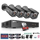 ANNKE Überwachungskamera Set 4CH TVI 1080N ONVIF DVR Recorder mit 1TB Festplatte +