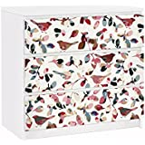 Vinilo adhesivo para muebles IKEA - Malm Dresser 3xDrawers - Look Closer, Tamaño:3 veces 20cm x 80cm
