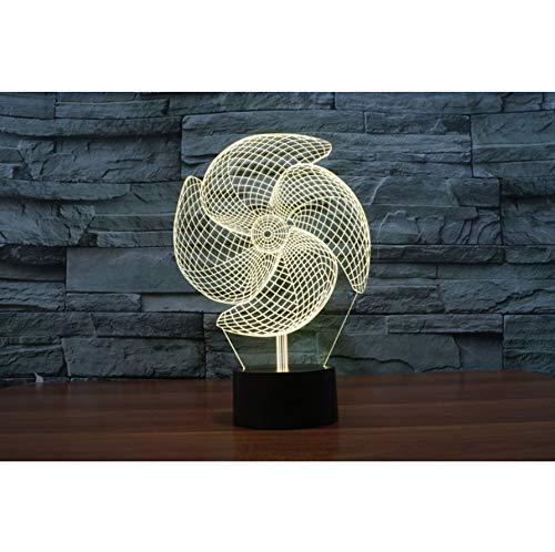 3D Windrad Illusion LED Nachtlichter Touch 3D Lampe Kleine Nacht Ligh Touch Tischlampe Bar Dekoration