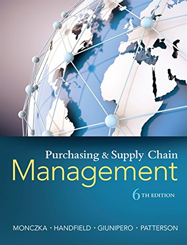 Purchasing and Supply Chain Management por Robert (Arizona State University) Monczka