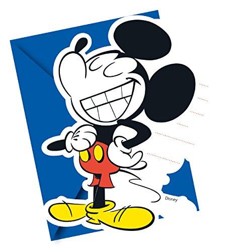 6 Einladungskarten mit Mickey (Party Und Geburtstag Micky Supplies Freunde Maus)