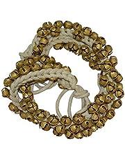 UAPAN MetalCraft Ghungroo White Cotton String (100+100(2.0 Cm))