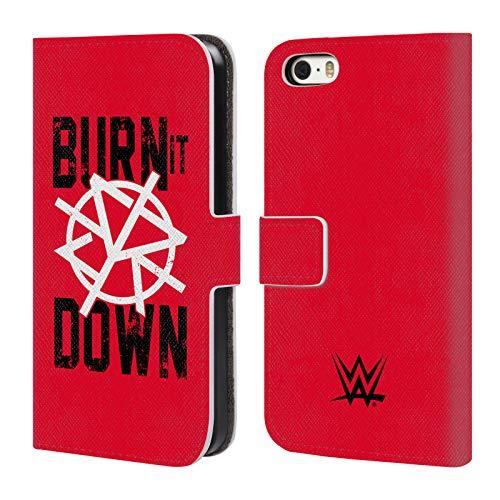 Head Case Designs Offizielle WWE Seth Rollins Burn It Down 2018/19 Superstars 4 Leder Brieftaschen Huelle kompatibel mit iPhone 5 iPhone 5s iPhone SE (Iphone 5s Wwe)