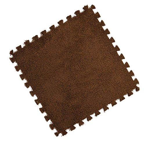 JIANGFU 30 * 30 cm Kinder Teppich Schaum Puzzle Matte EVA Shaggy Samt Baby Eco Boden 7 farben, Schutzmatten Set Puzzlematten | Bodenschutzmatten | Unterlegmatten | Fitnessmatten für Bode (C)