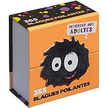 Mini calendrier - 365 blagues poilantes, interdit aux adultes !