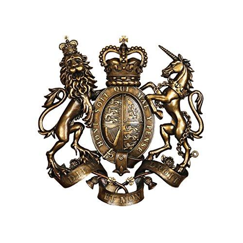Design Toscano Königliches Wappen von Großbritannien, Wandfigur