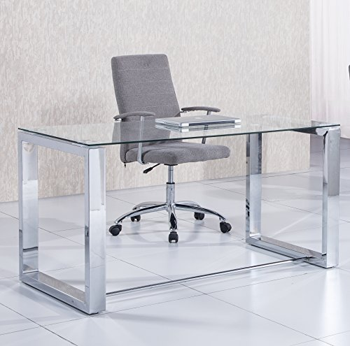 Due-Home 2454140031 - mesa de escritorio office - color - metal cromado