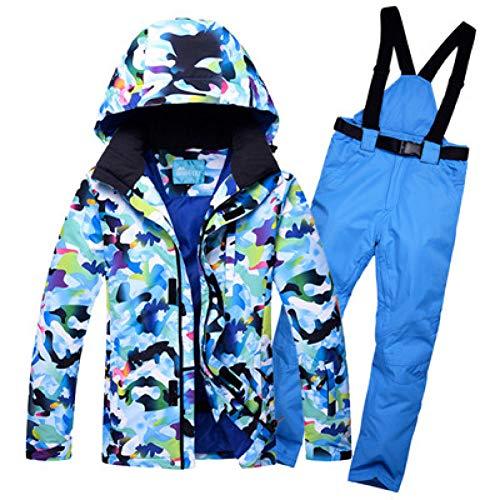 HXFNX Traje De Esquí para Hombre, Traje De Esquí Traje De Hombre Cortavientos Impermeable A Prueba De Frío Pantalones De Esquí De Doble Tabla Individual, Tamaño Grande,Color7