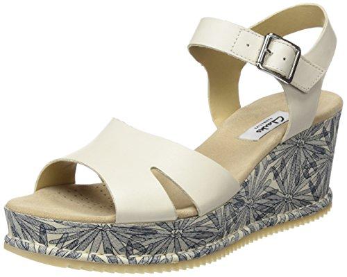 Clarks Damen Akilah Eden Slingback, Weiß (White Leather), 36 EU