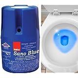 Nettoyant et désodorisant longue durée Sano pour cuvette de WC - Pour des toilettes sans germes ni bactéries