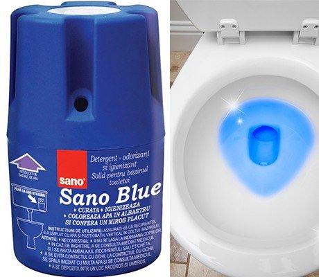 """Langlebiger, hygienischer WC-Schüssel-Reiniger und -Erfrischer für funkelnde und keimfreie WCs von Israels führendem Hersteller von Hygiene-Produkten """"Sano"""""""