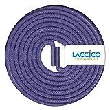 LACCICO Finest Waxed Laces - Durchmesser 2,5 mm, robuste gewachste premium Schnürsenkel; Farbe:Lila, Länge:150 cm