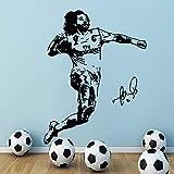zqyjhkou Marcelo Vieira Brasil Fútbol del Real Madrid Fútbol Pegatinas de Pared Habitaciones para niños niños Decoración Papel Tapiz Posters XL 57cm X 74cm
