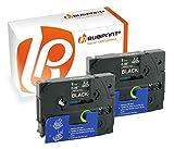 Bubprint 2 Schriftbänder kompatibel für Brother TZE-325 TZE 325 für P-Touch 1280 2430PC 2730VP 3600 9500PC 9700PC D400VP D600VP H100LB H105 P700 P750W