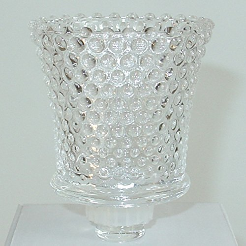 Dekowelten 1x Glasaufsatz für Kerzenleuchter Kerzenständer Teelichtaufsatz Teelichthalter aus Glas PERLE