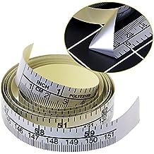 bhty235 - Regla de medición resistente a roturas, 151 cm, cinta métrica autoadhesiva,