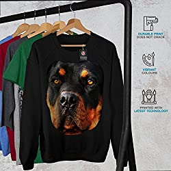 Wellcoda Rottweiler Pup Animal Dog Women S-2XL Sweatshirt