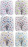 #10: UCARE Girls Cotton Printed Bloomers/Panties- (605-Pack of 6)