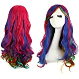 "ASHIN Kanekalon Fiber 31.5""(80cm) Ladies Cosplay Costume Long Wavy Curly Hair Wigs Halloween Party"