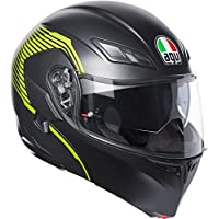AGV Compact ST E2205 Multi Plk Vermont Helmet, Matt Black/Yellow, Size M
