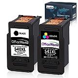 OfficeWorld Remanufactured Kompatibel Canon PG-540 CL-541 Tintenpatronen (1 Schwarz, 1 Farbe) Kompatibel für Canon Pixma MG2100 MG2150 MG2200 MG2250 MG3100 MG3150 MG3200 MG3250 MG3255