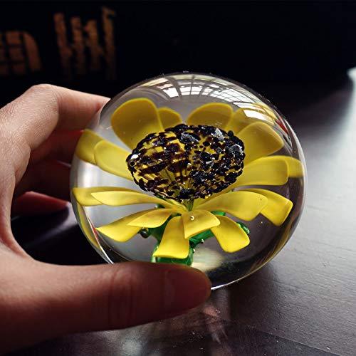 Glas Sunflower Sun Flower Glas Handmade Art Kreative Geschenk Buch Desktop Chri ()