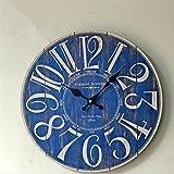 Orologio a pendolo Orologio da parete in legno europeo retrò Orologio tranquillo Moda Soggiorno semplice Cucina Ristorante Orologio da parete della camera da letto