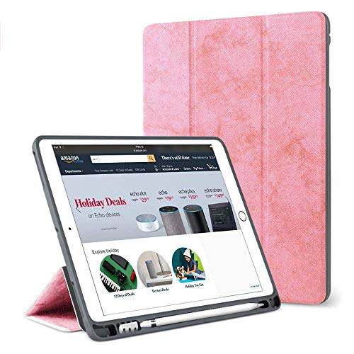 Neue iPad 9,720182017, iPad Pro 9,7, iPad Air 1, iPad Air 2Universal Tasche, coopts PU Leder Schutzhülle mit Kartenschlitzen für Apple iPad 6./5. Gen, iPad Air 1/2, iPad Pro 9,7 02# Pink - Autumn Gold-finish