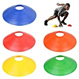TRIXES 20 Articles Lot de Cônes Marquage Multicolores Légers Souples Football Sports Entraînement