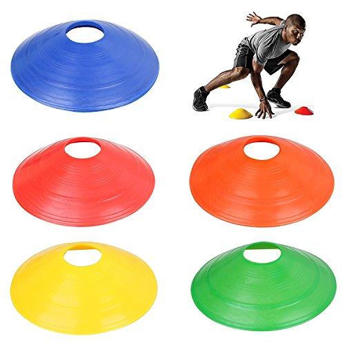 Trixes 20er Pack Sport Marker Kegel Multicolor Fußball Sporttraining Leicht Flexibel