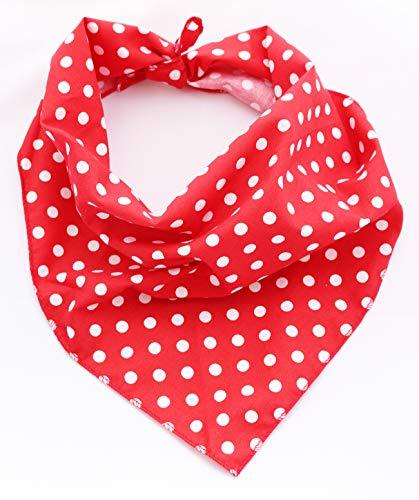 ue Polka Dot Bandana für Hunde, Medium/Large, Rot ()