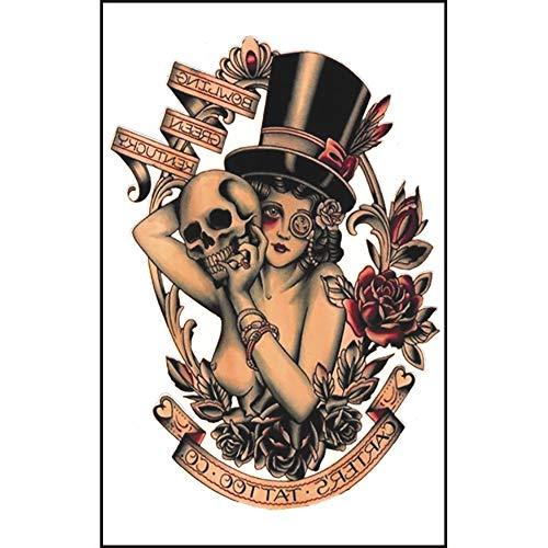 OHQ Wasserdicht und Ungiftig Tattoo 8pcs Arm gefälschte Temp Tattoo Aufkleber in einem Pakete, einschließlich Schädel, Totem, Eule, Arm Tattoo für Männer und Frauen