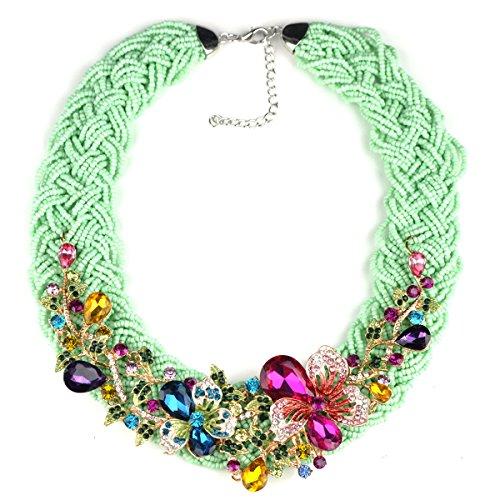 Preisvergleich Produktbild MSNHMU Mode Luxus Gewebte Falsche Kragen Schmuck Charm Statement Halskette Für Frauen,Multi-colored-L
