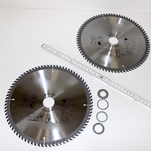 lot-de-2-motif-lame-de-scie-circulaire-metal-dur-pour-aluminium-230-mm-80-dents-alesage-30-mm-avec-4