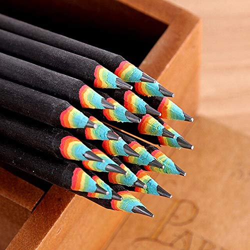 MYONEDAY Pen 1 Stücke Bleistift 2B Regenbogen Stift Schreibwaren Bürobedarf Schulbedarf - Regenbogen-licht Gesunde