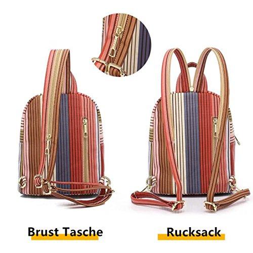Cool&D Mädchen Rucksack Brusttasche Chest Pack Umhängetasche Brustbeutel für Outdoor Sportarten Reisen nylon fabric M Blau