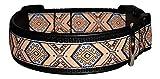 Ledustra Hundehalsband Inka Indianer Leder Klickverschluss
