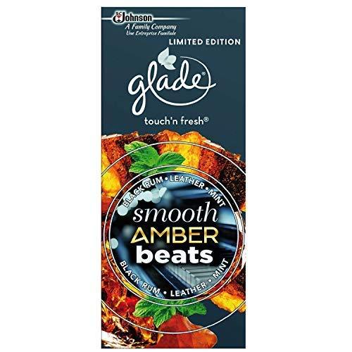 2 Stück Glade touch & fresh Nachfüller Smooth Amber Beats schwarzer Rum Leder Minze 2x 10ml Johnson Leder