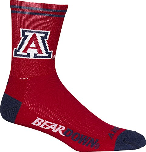 Adrenaline Promotions NCAA Arizona Wildcats Radfahren/Triathlon/Running Socken, Unisex, weiß, Large/X-Large