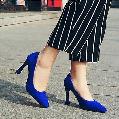 Wsx & Plm Féminin Heels-mariage Formel-casual Autres-un Cône-pu (polyuréthane) -black Bleu Bourgogne Rouge Bleu Argent