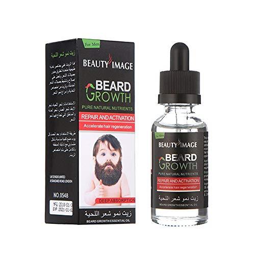 Bart Schnurrbart Brust Haarwachstum Essenz Flüssiges Dickeres Öl Enhancer 40ml