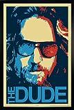 Close Up The Big Lebowski Poster The Dude (66x96,5 cm) gerahmt in: Rahmen schwarz