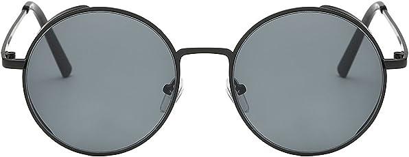 Round Metal Rim Fashion Vintage Polarized Sunglasses Retro Women Men Glasses